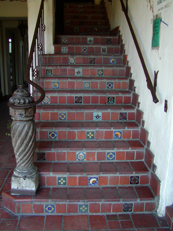 Spanish Tile Staircase In Carmel By The Sea